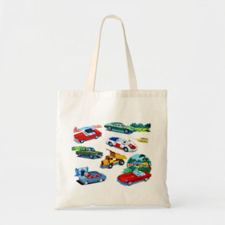 Retro Vintage Kitsch Kids Toy Diecast Cars Tote Bag