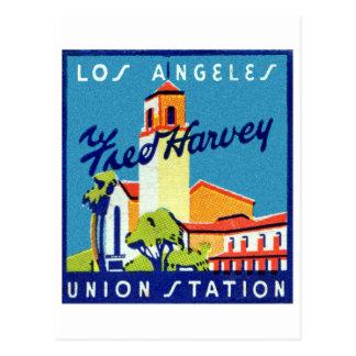 Retro Vintage Kitsch LA Union Station Fred Harvey Postcard