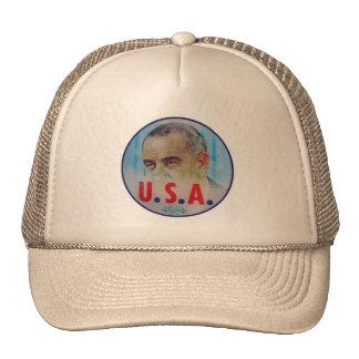 Retro Vintage Kitsch LBJ Flasher Poitical Button Mesh Hats