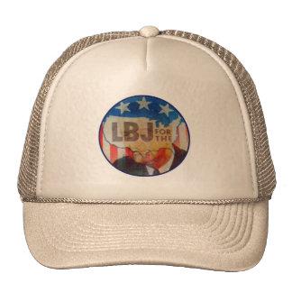 Retro Vintage Kitsch LBJ Flasher Political Button Hats