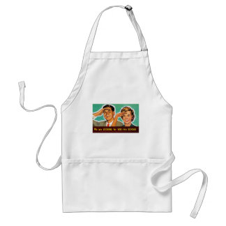 Retro Vintage Kitsch Looking for You on Sunday! Adult Apron
