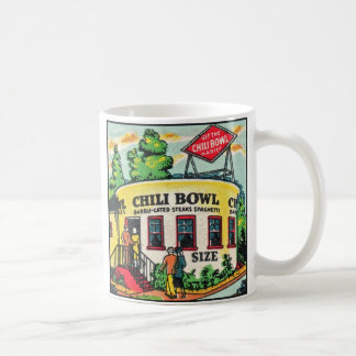 Retro Vintage Kitsch Matchbook Chili Bowl Cafe Basic White Mug