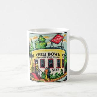 Retro Vintage Kitsch Matchbook Chili Bowl Cafe Coffee Mug