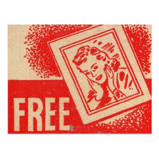 Retro Vintage Kitsch Matchbook FREE ENLARGMENTS! Postcard