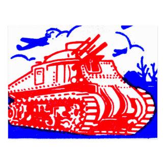 Retro Vintage Kitsch Matchbook Victory Bonds Tank Postcard