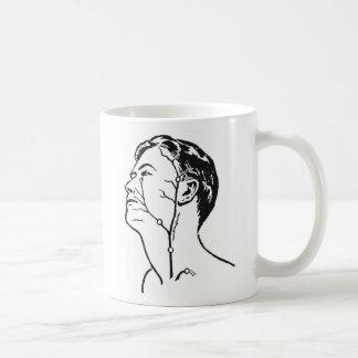 Retro Vintage Kitsch Medical Head Veins Arteries Coffee Mug
