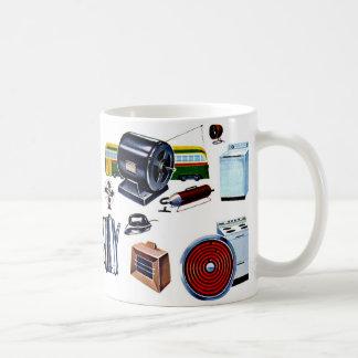 Retro Vintage Kitsch Modern Appliances Mug