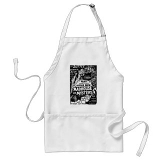 Retro Vintage Kitsch Monsters Madhouse of Mystery Aprons
