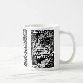 Retro Vintage Kitsch Monsters Madhouse of Mystery Coffee Mug