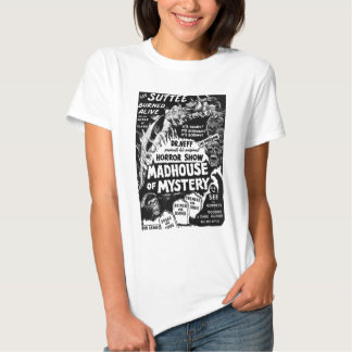 Retro Vintage Kitsch Monsters Madhouse of Mystery Shirt