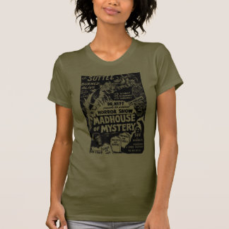 Retro Vintage Kitsch Monsters Madhouse of Mystery T-Shirt