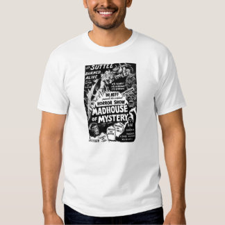 Retro Vintage Kitsch Monsters Madhouse of Mystery Tshirts
