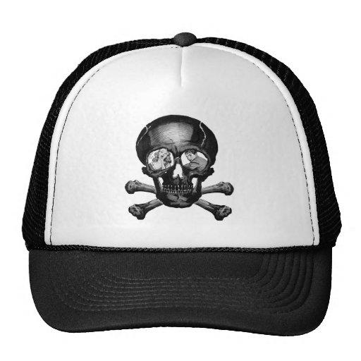 Retro Vintage Kitsch Monsters 'Skull' Comic Mesh Hats