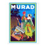 Retro Vintage Kitsch Murad Turkish Cigarettes Ad Postcards