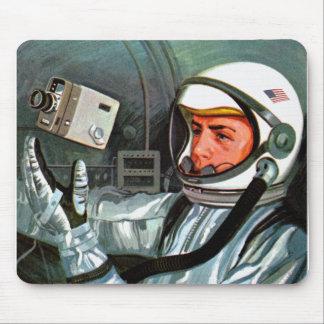 Retro Vintage Kitsch NASA Astronaut Super 8 Camera Mouse Pad