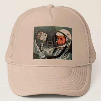 Retro Vintage Kitsch NASA Astronaut Super 8 Camera Trucker Hat