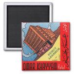 Retro Vintage Kitsch Omar Khayyam Hotel Beirut Refrigerator Magnets