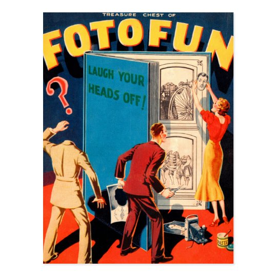 Retro Vintage Kitsch Photography Fotofun Postcard