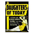 Retro Vintage Kitsch Pin Up Daughters of Today Ad Postcard