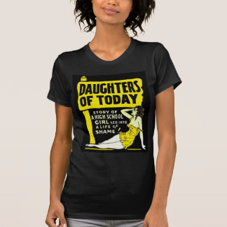 Retro Vintage Kitsch Pin Up Daughters of Today Ad T-shirts