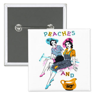 Retro Vintage Kitsch Pin Up Peaches and Cream