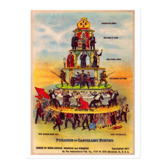 Retro Vintage Kitsch Politics Capitalism Postcard