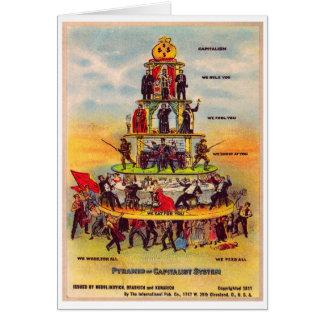Retro Vintage Kitsch Politics Capitalism Postcard Greeting Card