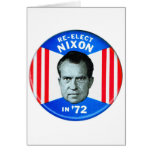 Retro Vintage Kitsch Politics Re-Elect Nixon in 72 Greeting Card