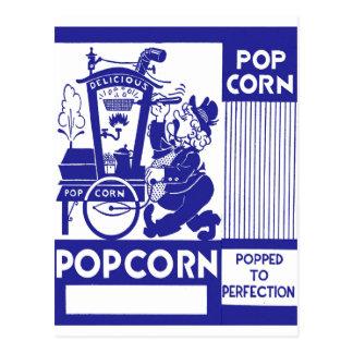 Retro Vintage Kitsch Popcorn Box Popped Perfection Postcard