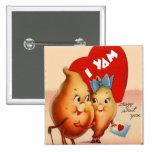 Retro Vintage Kitsch Potato Valentine I Yam Crazy 15 Cm Square Badge