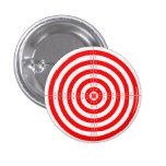 Retro Vintage Kitsch Red Archery Target Bullseye Pinback Buttons