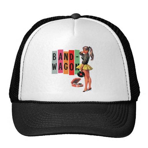 Retro Vintage Kitsch Rockabilly Girl Band Wagon Hats