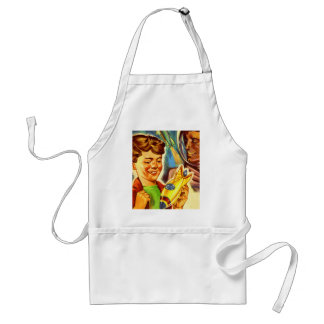 Retro Vintage Kitsch Rockets Outer Space Boy Aprons