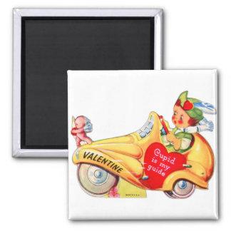 Retro Vintage Kitsch School Valentine Cupid Refrigerator Magnet