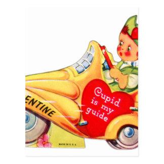 Retro Vintage Kitsch School Valentine Cupid Post Card