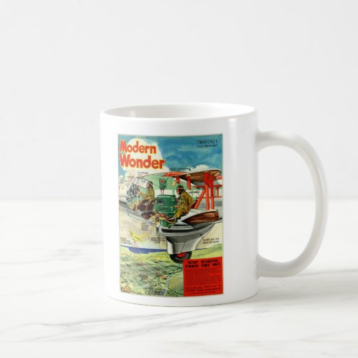 Retro Vintage Kitsch Sci Fi 30s Modern Wonder Coffee Mug