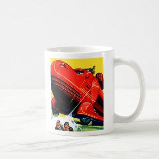 Retro Vintage Kitsch Sci Fi 30s Riot Control Basic White Mug