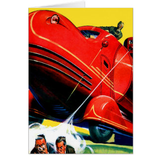 Retro Vintage Kitsch Sci Fi 30s Riot Control Greeting Card