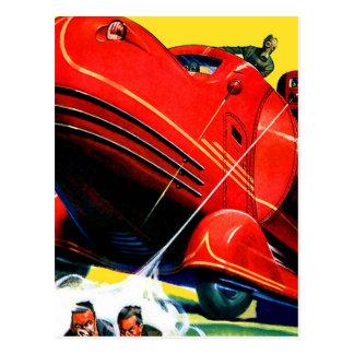 Retro Vintage Kitsch Sci Fi 30s Riot Control Postcard