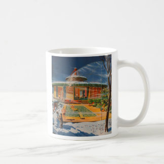 Retro Vintage Kitsch Sci Fi 60s Future Home Basic White Mug