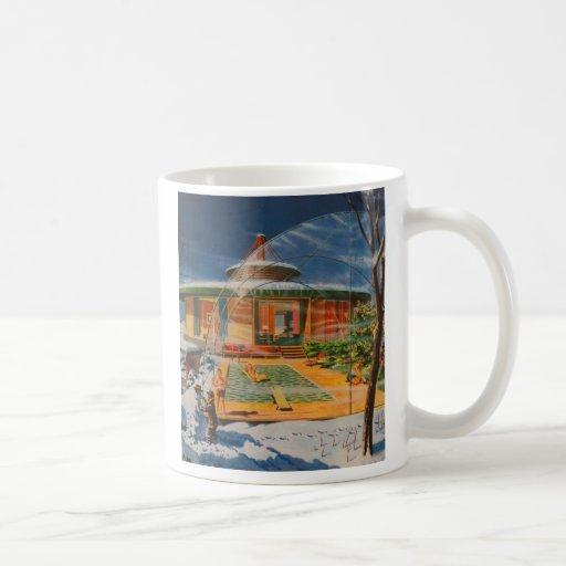 Retro Vintage Kitsch Sci Fi 60s Future Home Mug