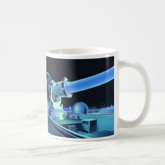 Retro Vintage Kitsch Sci Fi Killer Laser Beam Classic White Coffee Mug