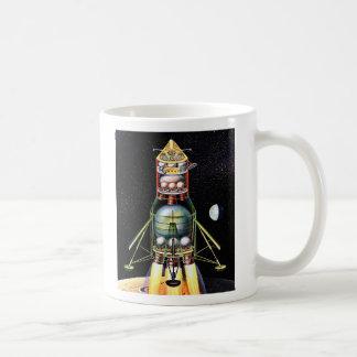 Retro Vintage Kitsch Sci Fi Lunar Module Coffee Mug