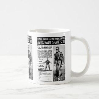 Retro Vintage Kitsch Sci Fi Own a Astronaut Suit Classic White Coffee Mug