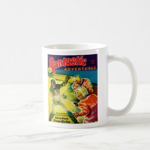 Retro Vintage Kitsch Sci Fi Pulp Fantastic Mag Coffee Mugs