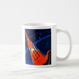 Retro Vintage Kitsch Sci Fi USSR Soviet Space Basic White Mug
