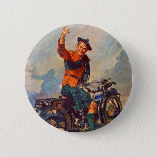 Retro Vintage Kitsch Scot Douglas Motorcycle Ad 6 Cm Round Badge