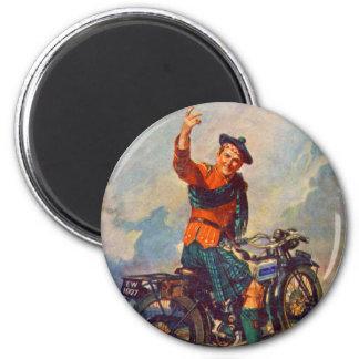 Retro Vintage Kitsch Scot Douglas Motorcycle Ad Magnet