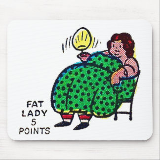 Retro Vintage Kitsch Sideshow Character Fat Lady Mousepads