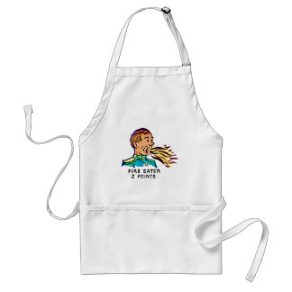 Retro Vintage Kitsch Sideshow Fire Eater Aprons